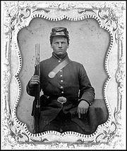 Portrait eines Soldaten aus dem Sezessionskrieg  (1860 - 1865)