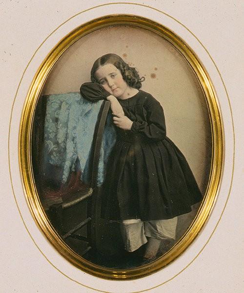 Handkolorierte Daguerreotypie aus dem Jahr 1850 von J. Garnier